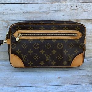 💯Authentic LOUIS VUITTON Marly Dragonne Clutch